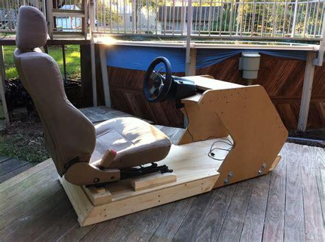 racing simulator chair plans home racing cockpit plans c艫utare racing