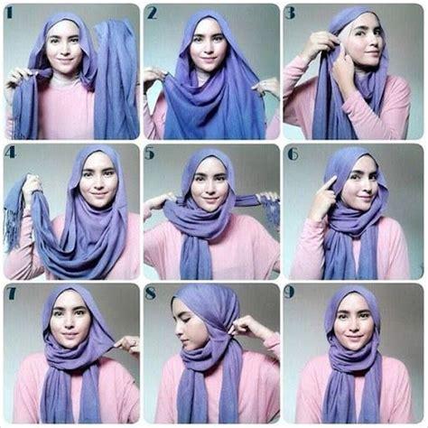 tutorial hijab segi empat lengkap tutorial hijab trend sekarang yang paling kreatif dan