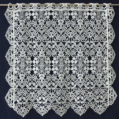 Lace Cafe Curtains Macrame Lace Cafe Curtain Valance Curtain