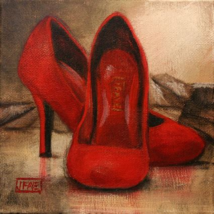 high heel shoe paintings shoe dailies and other artwork by jacqui july 2009