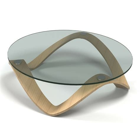 table basse en verre ronde ou ovale ezooq