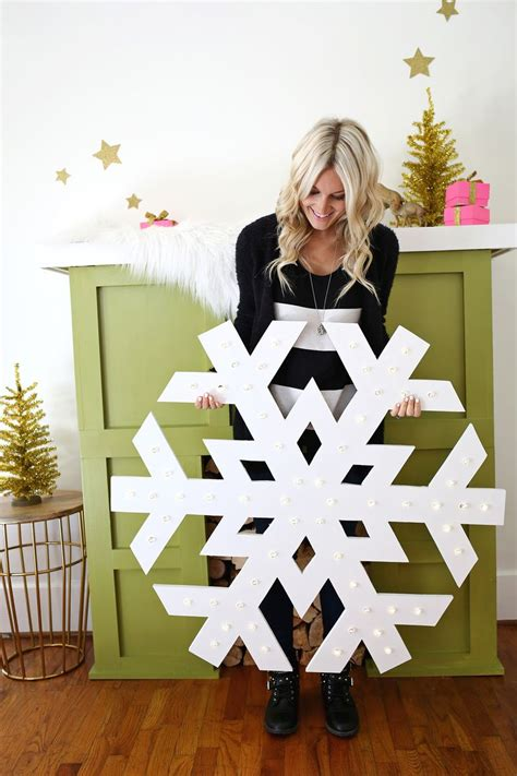 How To Make Large Paper Snowflakes - snowflake light up marquee a beautiful mess