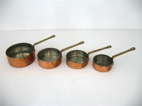 Patina Chandelier Vintage Copper Measuring Cups Omero Home