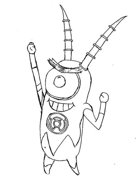 spongebob plankton coloring pages