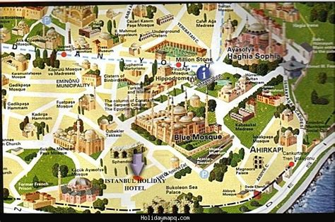 map of with attractions istanbul map tourist attractions holidaymapq