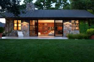 Barn Style Prefab Homes Fieldstone Guest Cottage Contemporary Exterior San