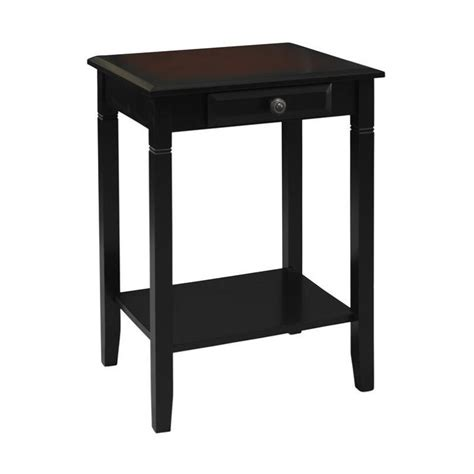 black accent tables accent table in black cherry 64027blkchy01kdu