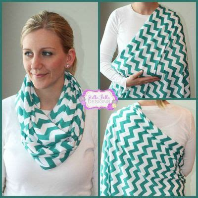 teal chevron nursing cover and infinity scarf baby time