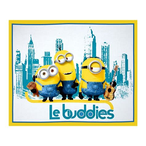 Discount Designer Home Decor minions le buddies 36 in panel turquoise yellow