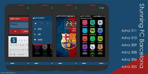 themes com nth fcb themes for asha 305 asha 311 full touch