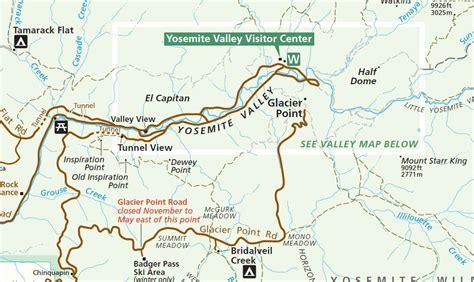 map of yosemite yosemite