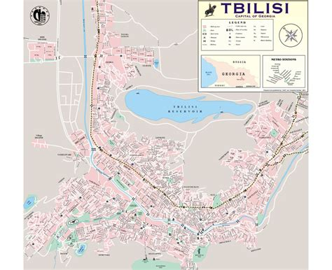 tbilisi map maps of tbilisi detailed map of tbilisi in and