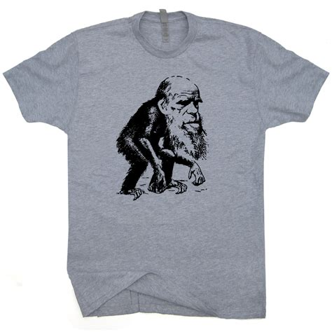 charles darwin monkey shirt funny evolution tees