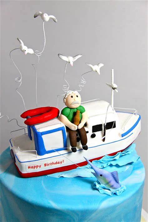 fishing boat birthday images sweet art cakes by milbre 233 moments 60th launch fishing