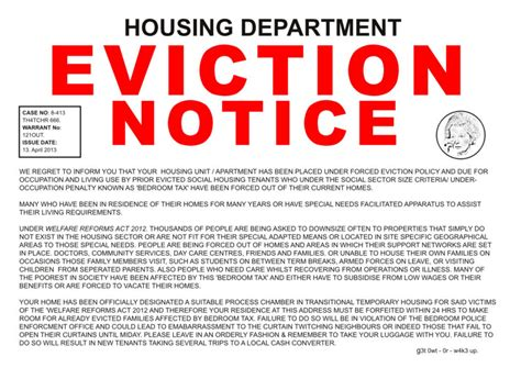 template of eviction notice understanding the eviction process