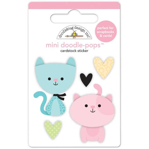 Doodlebug Mini Doodle Pops Bitty Kitties