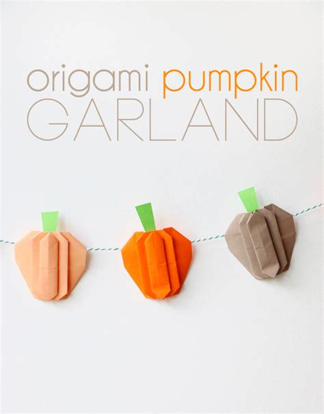 printable origami pumpkin instructions pumpkin garland title jpg