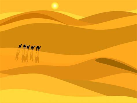 African Desert Backgrounds Beige Brown Orange Travel Yellow Templates Free Ppt Desert Powerpoint Background
