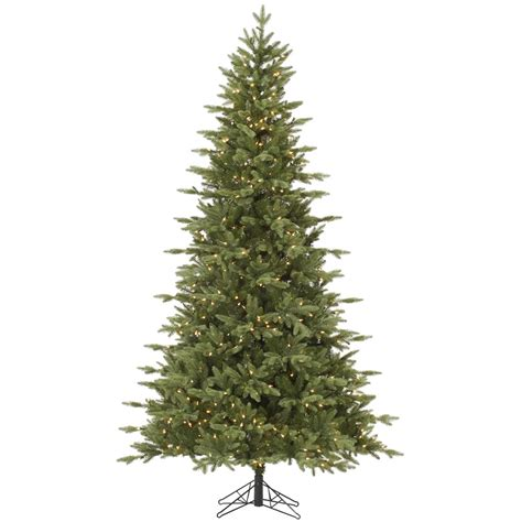 pre lighted tree 7 5 fresh balsam fir tree pre lighted dura lit