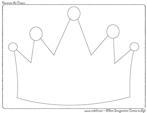 Printable Crowns For Preschoolers | decorate the crown knights castles knight printout