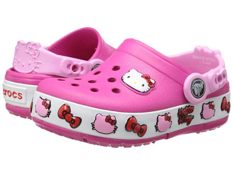 crocs 4 5 toddler crocs crocslights hello clog toddler kid big kid zappos free shipping