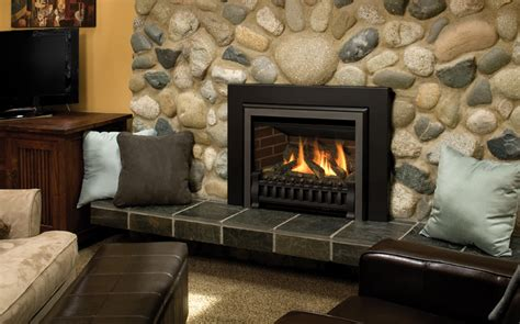 black bart ii fireplace insert on custom fireplace