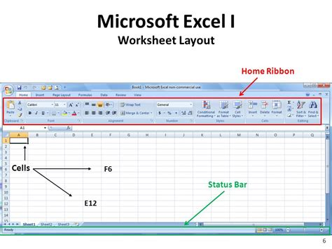 layout ribbon excel microsoft excel i ppt download
