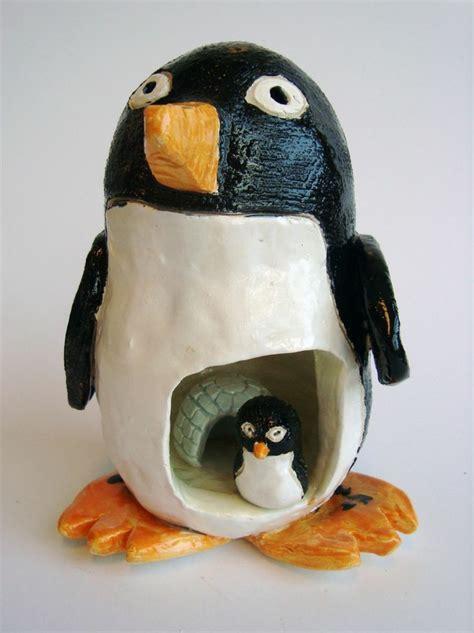 Animal Flower Pot Penguin pinch pot penguins pinch pot