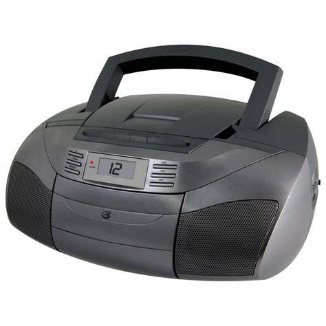 radio cd cassette gpx stereo boom box with cd am fm cassette bca206s the