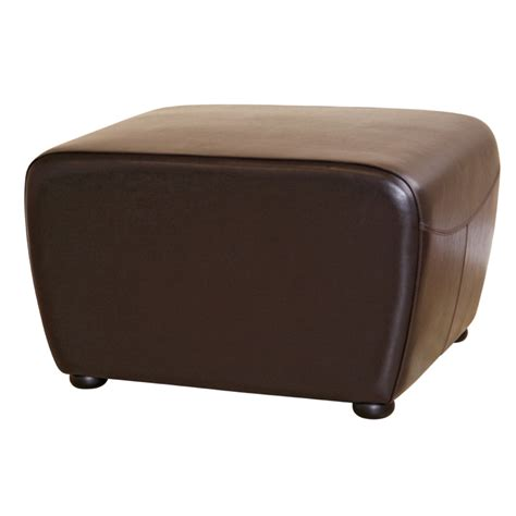 leather brown ottoman wholesale interiors bicast leather ottoman brown y 051