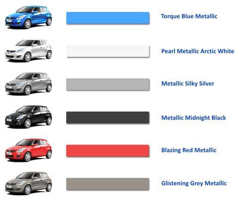 maruti suzuki car colours maruti suzuki colour range