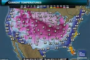 list the color of the from to coldest polar vortex causes coldest temperatures in 20 years for