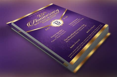 Wedding Anniversary Gala Flyer ~ Wedding Templates