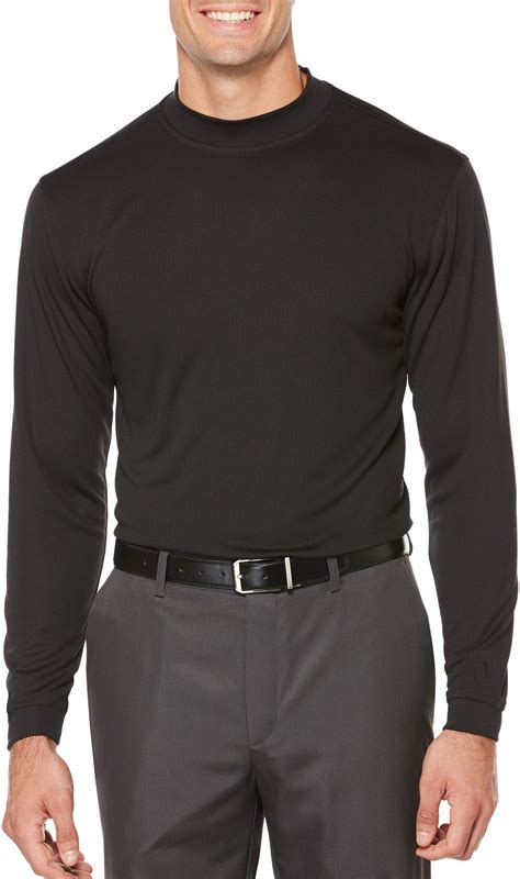 Mock Neck Sleeve T Shirt pga tour mens mock neck sleeve shirt ebay