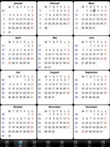 Kalender 2018 Veckonummer Almanacka 2016 Veckonummer Calendar Template 2016
