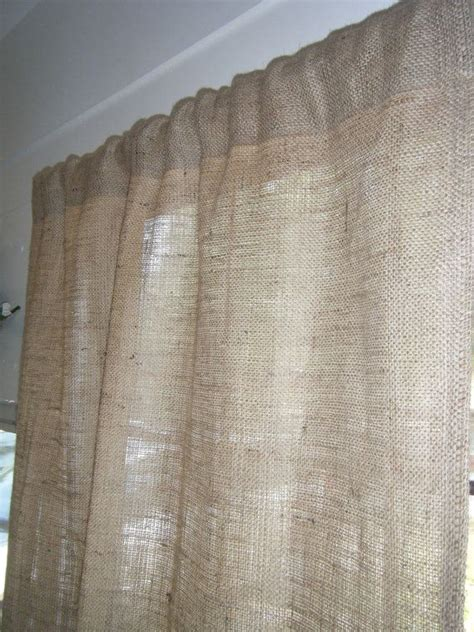 jute curtain burlap curtains for the home pinterest