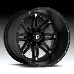 Black Truck Wheels Road 20x12 Fuel Road Hostage Lip Matte Black Wheels