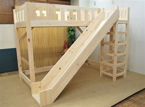 Wood Bunk Bed With Slide Wooden Loft Bed With Slide For The Home
