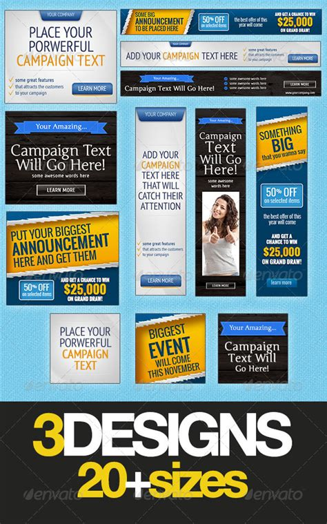 ad banner templates 8 best images of free printable square banner templates
