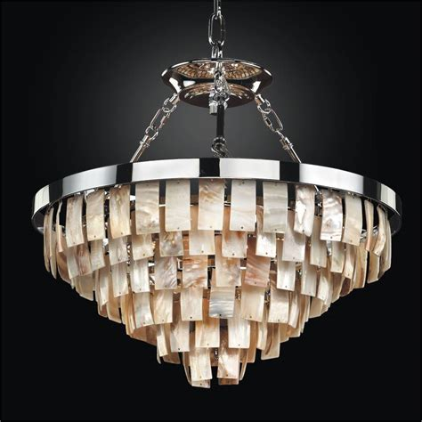 Rectangular Shaped Chandeliers Rectangular Shaped Opalescent Shell Chandelier To Semi Flush Mounts La Jolla 619 Glow 174 Lighting