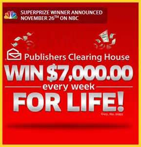 pch set for sweepstakes 7 grand a week for