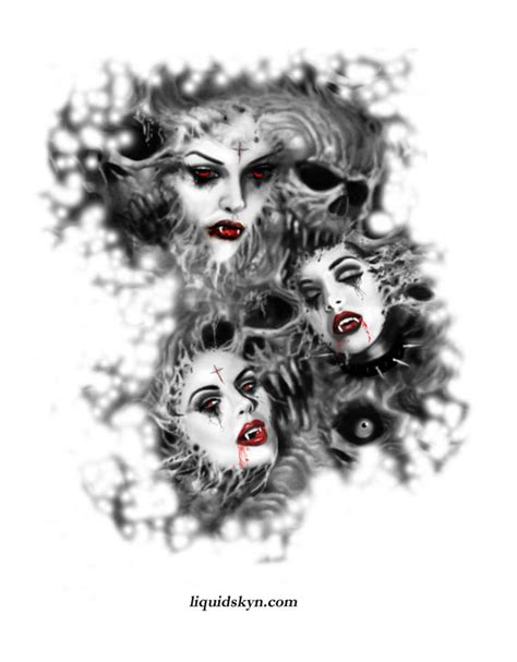 10 vampire tattoos designs