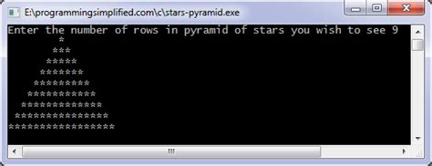 star pattern program c pattern programs in c programming simplified