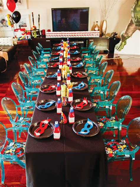 assemble  avengers themed birthday party wh candy