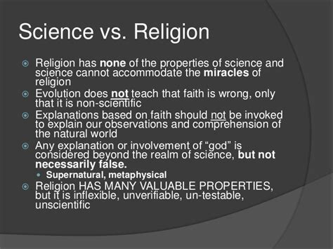 science vs religion impiety the facts about evolution