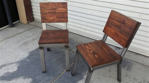 rustic industrial dining chairs wood dining chair rustic chair welded chair industrial