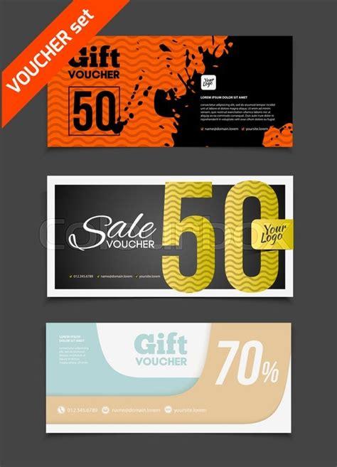design house voucher gift voucher vector set sale voucher vector illustration