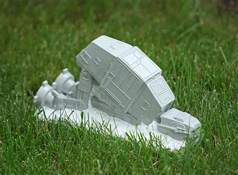 star wars homemade lawn wars at at lawn ornament the green