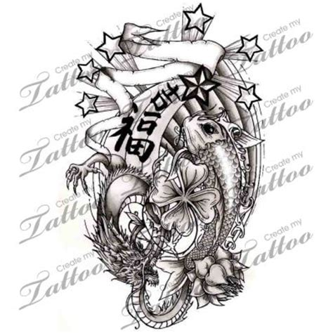 good luck tattoo designs luck symbols designs koi fish