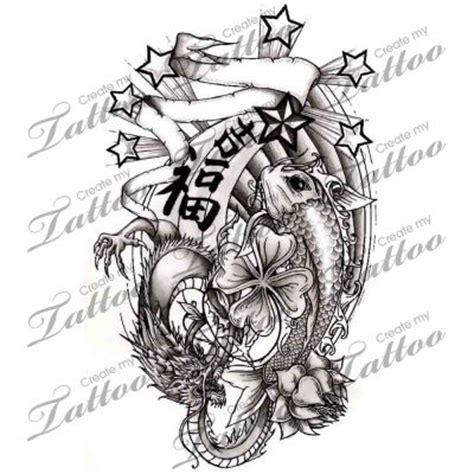 good luck tattoo designs luck symbols designs koi fish